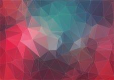 Retro wzór geometryczni kształty kolorowa sztandar mozaika Fotografia Stock