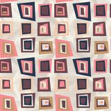 Retro wzór geometryczni kształty. Obraz Royalty Free