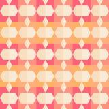 Retro wzór geometryczni kształty. Obrazy Stock