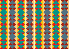 Retro wzór geometryczny kształta tło Fotografia Royalty Free