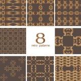 8 Retro wzorów Fotografia Royalty Free