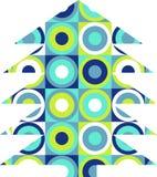 Retro xmas tree. Graphic christmas symbol vector illustration