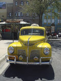 Retro yellow cab Royalty Free Stock Image