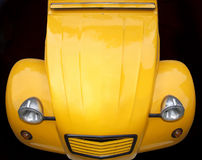 Retro yellow car Royalty Free Stock Image