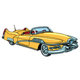 Retro yellow car classic abstract model Stock Images