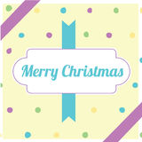 Retro yellow Christmas pac Stock Photography