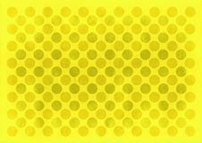 Vintage yellow circles pattern. Retro yellow circles pattern on a yellow background vector illustration