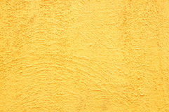 Retro yellow concrete wall background Royalty Free Stock Images