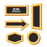 Retro yellow frame. Vintage Signs Royalty Free Stock Photography