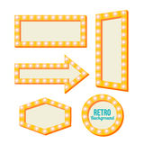 Retro yellow frame. Vintage Signs Royalty Free Stock Photos