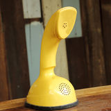 Retro yellow telephone Royalty Free Stock Image
