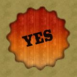 Retro YES text on wood panel background. Retro YES text on wood panel background, illustration Stock Photography
