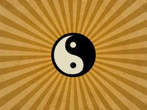 Retro yin yang Stock Photo