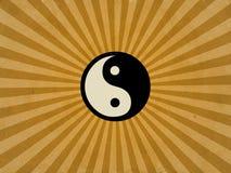 Retro yin yang royalty free illustration