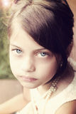 Retro Young Beautiful Girl Royalty Free Stock Photography