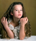 Retro Young Girl Royalty Free Stock Images