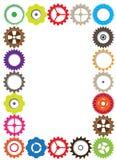 Retro- Zahnradmechanismus-Zusammenfassung bacground Retro- Zahnradmechanismus bacground Stockfotografie