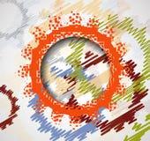 Retro- Zahnradmechanismus-Zusammenfassung bacground Retro- Zahnradmechanismus bacground Lizenzfreie Stockfotografie