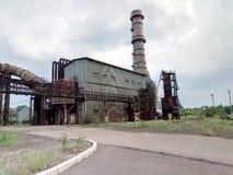 Retro zaniechana fabryka, metal budowa Fotografia Royalty Free