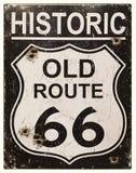 Retro- Zeichen des Weges 66 Lizenzfreie Stockbilder
