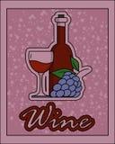 Retro- Zeichen des Weins Stockbild