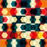 Retro- Zellnahtloses Muster mit Schmutzeffekt Stockbilder