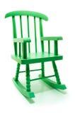 Retro zieleń kołysa krzesła w białym tle Zdjęcie Stock