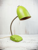 Retro zielona biurko lampa Obraz Stock