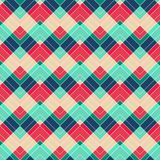 Retro zigzag naadloos patroon Royalty-vrije Stock Fotografie