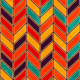 Retro zigzag. Seamless pattern. Royalty Free Stock Photography