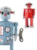 Retro- Zinn-Spielzeug-Roboter lizenzfreie stockfotografie