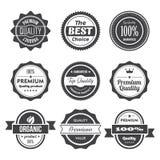 Retro znaczki i odznaki Zdjęcia Stock