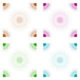 Retro zongrenzen Royalty-vrije Stock Afbeelding