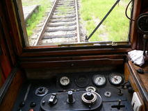 Retro- Zug in der Tschechischen Republik Stockfotografie