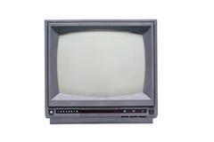 Retro zwart-wit Televisie Stock Foto's