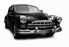 Retro zwarte auto stock foto