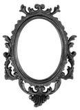 Retro Zwarte Frame van de Ellips van de Heropleving Oude stock afbeelding