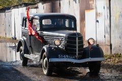 Retrocar GAZ-M-1 Emka年生产1936-1943 免版税库存图片
