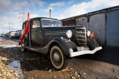 Retrocar GAZ-M-1 Emka år av produktion 1936-1943 Fotografering för Bildbyråer