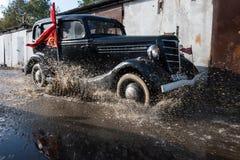 Retrocar GAZ-M-1 Emka år av produktion 1936-1943 Arkivfoton