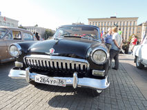 Retrocar GAZ M21 Volga of the Series Two black color Stock Images