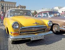 Retrocar GAZ M21 Volga Third Series yellow color Stock Photos