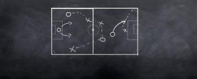 Retroceso de la esquina del fútbol Imagen de archivo