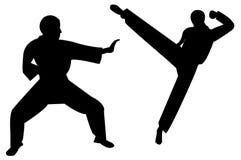 Retroceso del arte marcial Fotografía de archivo libre de regalías