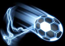 Retroceso del balón de fútbol Imagen de archivo libre de regalías