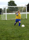 Retroceso del fútbol Imagenes de archivo