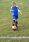 Retroceso del fútbol Fotografía de archivo