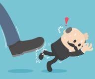 Retroceso del golpe el jefe stock de ilustración