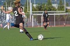 Retroceso del JV de las muchachas del fútbol Imagen de archivo