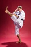 Retroceso del karate Imágenes de archivo libres de regalías